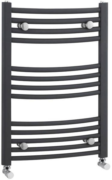 Additional image for Curved Ladder Towel Radiator (Anthracite). 700x500mm.