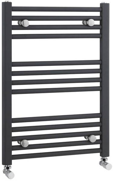 Additional image for Straight Ladder Towel Radiator (Anthracite). 700x500mm.