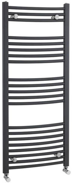 Additional image for Curved Ladder Towel Radiator (Anthracite). 1150x500mm.
