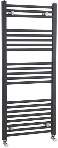 Additional image for Straight Ladder Towel Radiator (Anthracite). 1150x500mm.