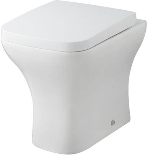 Additional image for Back To Wall Toilet Pan & Seat.