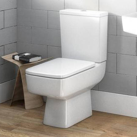 Additional image for Semi Flush To Wall Compact Toilet Pan With Cistern & Luxury Seat.