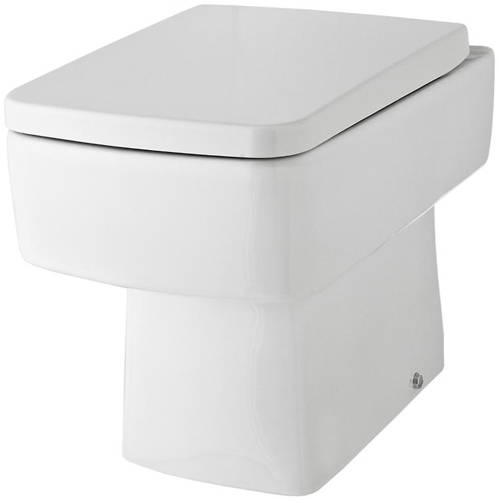 Additional image for Back To Wall Toilet Pan & Luxury Seat.