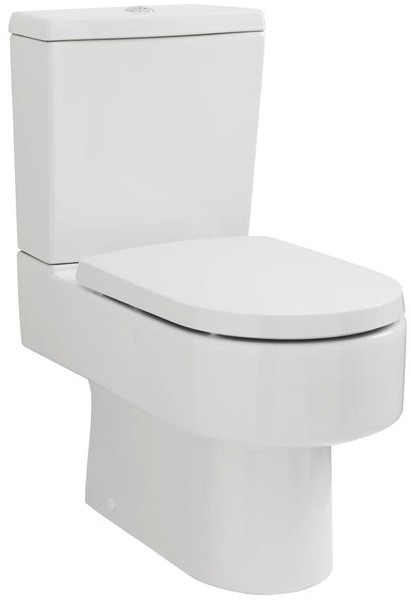 Additional image for Semi Flush To Wall Toilet Pan With Cistern & Luxury Seat.