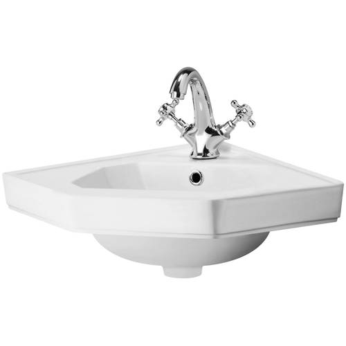 Additional image for Traditional Corner Basin 420mm (1 Tap Hole).