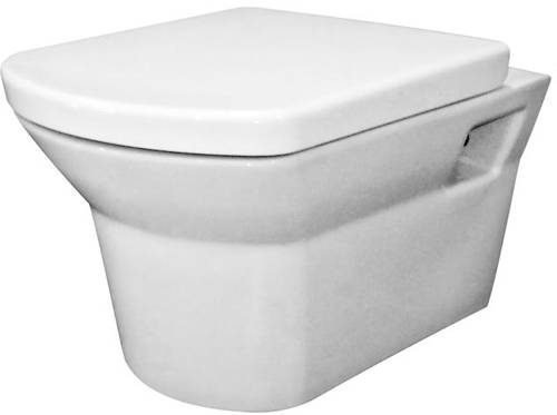 Additional image for Clara Wall Hung Toilet Pan With Soft Close Seat.