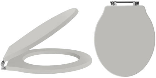 Additional image for Ryther Soft Close Toilet Seat (Stone Grey)