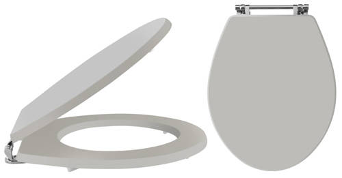 Additional image for Carlton Soft Close Toilet Seat (Stone Grey).