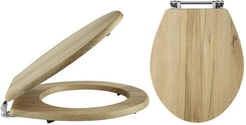Additional image for Carlton Soft Close Toilet Seat (Walnut).