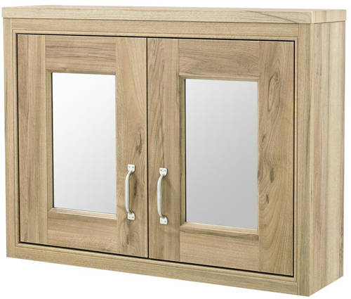 Additional image for Mirror Cabinet 800x600mm (Walnut).