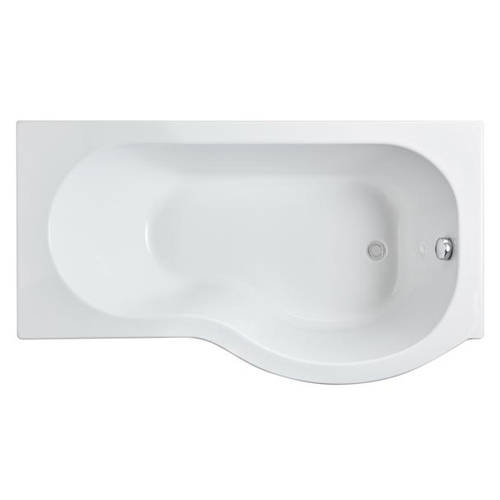 Additional image for P-Shape 1500mm Shower Bath Only (Right Handed).
