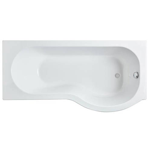 Additional image for P-Shape 1600mm Shower Bath Only (Right Handed).