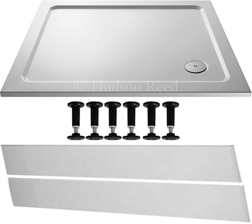 Additional image for Easy Plumb Rectangular Shower Tray. 1100x760x40mm.