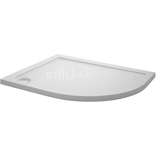Additional image for Low Pro Offset Quad Shower Tray. 900x800x40. Right Handed.