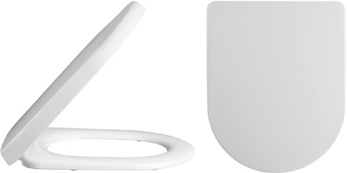 Additional image for Luxury D Shaped Toilet Seat (White).