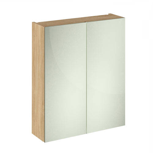 Additional image for 2 Door Mirror Cabinet 600mm (Natural Oak).