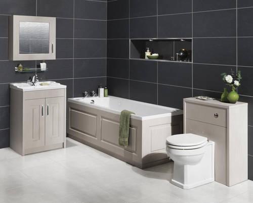 Additional image for Vanity Unit & Ceramic Basin 600mm (Grey).