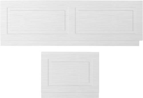 Additional image for Front Bath Panel 1800mm & End Panel 750mm (White).