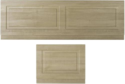 Additional image for Front Bath Panel 1700mm & End Panel 750mm (Oak).