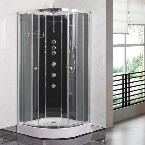 Additional image for Quadrant Shower Cabin 800x800mm (Black).