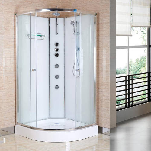 Additional image for Quadrant Shower Cabin 900x900mm (White).