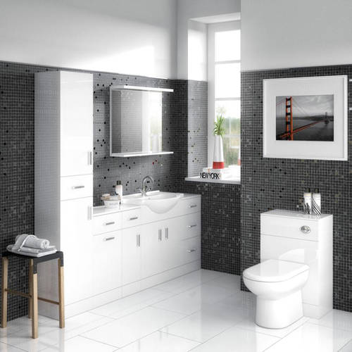 Additional image for Back To Wall WC Unit (766x500x300mm, White).