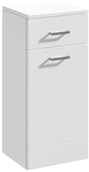 Additional image for Bathroom Laundry Basket (766x350x300mm, White).