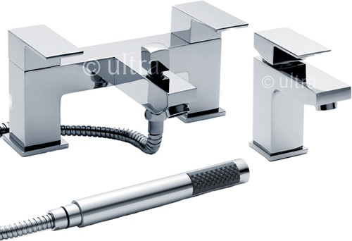 Additional image for Basin & Bath Shower Mixer Tap Set (Free Shower Kit).