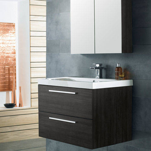 Additional image for Wall Vanity Unit & Basin 720mm (Hacienda Black).