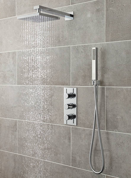 Additional image for Quest Triple Thermostatic Shower Valve, Head & Shower Kit.