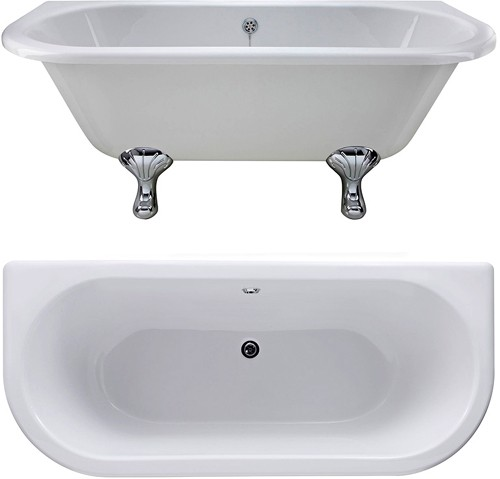 Additional image for Kenton BTW Double Ended Freestanding Bath 1700x745mm.