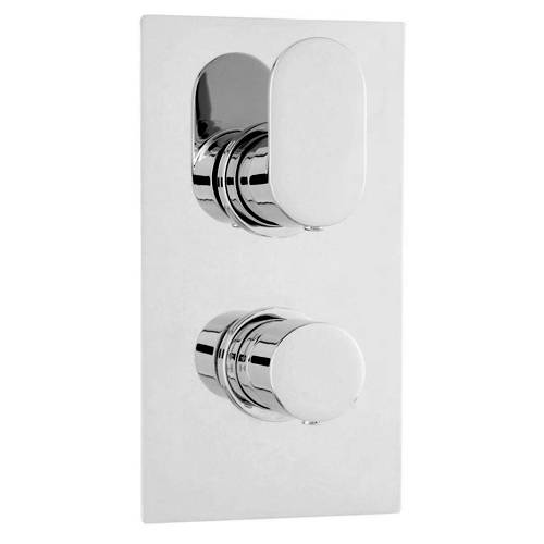 Additional image for Twin Thermostatic Shower Valve With 2 Outlets (Chrome).