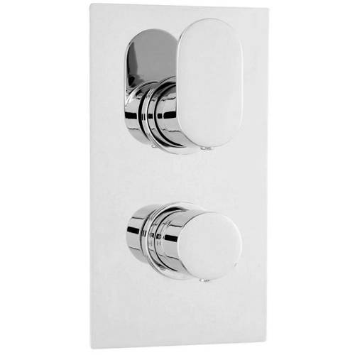 Additional image for Twin Thermostatic Shower Valve With 1 Outlet (Chrome).