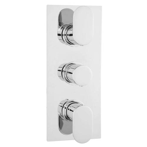 Additional image for Triple Thermostatic Shower Valve With 2 Outlets (Chrome).