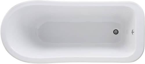 Additional image for Brockley Slipper Bath & Deacon Feet 1500x730mm.