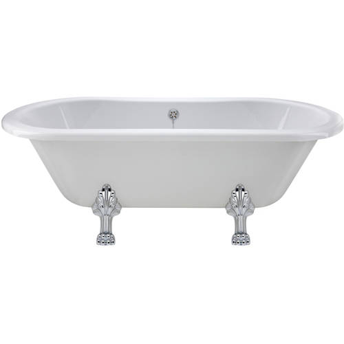 Additional image for Grosvenor Double Ended Bath With Pride Feet 1500x745mm.