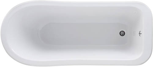 Additional image for Brockley Slipper Bath & Pride Feet 1700x730mm.