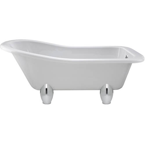 Additional image for Brockley Slipper Bath & Deacon Feet 1700x730mm.