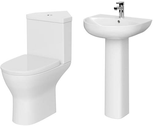 Additional image for Corner Suite With Pan, Cistern, Basin & Full Pedestal.