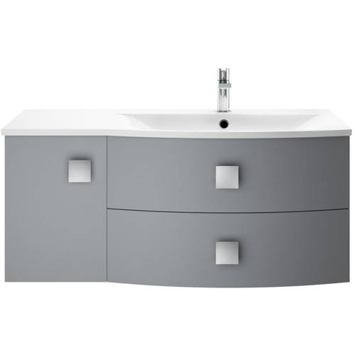 Additional image for Wall Hung 1000mm Cabinet & Basin RH (Dove Grey).
