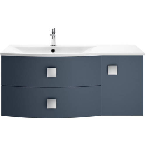 Additional image for Wall Hung 1000mm Cabinet & Basin LH (Mineral Blue).