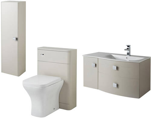 Additional image for Bathroom Furniture Pack 6 (RH, Cashmere)