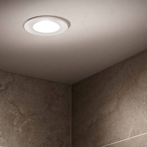 Additional image for 5 x Shower Spot Lights & Warm White LED Lamps (White).