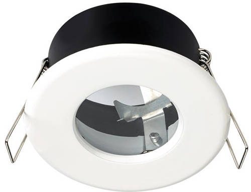 Additional image for 6 x Shower Spot Lights & Warm White LED Lamps (White).