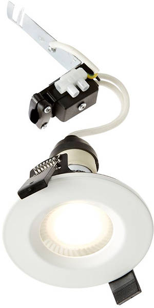 Additional image for 6 x Designer Shower Spot Light Fittings (White, 240V).