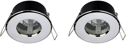Additional image for 2 x Shower Spot Lights & Cool White LED Lamps (Chrome).