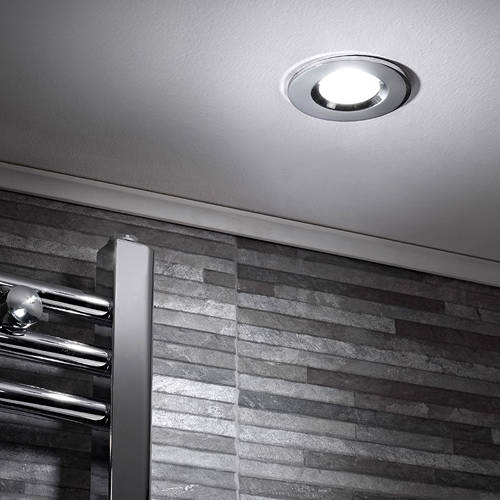 Additional image for 5 x Shower Spot Lights & Cool White LED Lamps (Chrome).