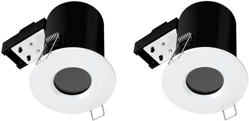 Additional image for 2 x Fire & Acoustic Spot Light & C White LED Lamps (White).
