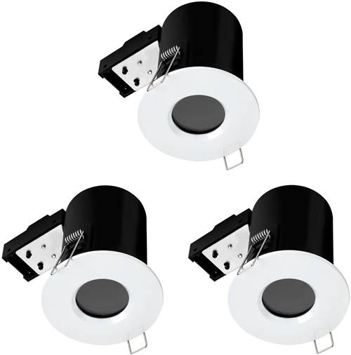 Additional image for 3 x Fire & Acoustic Spot Light & C White LED Lamps (White).