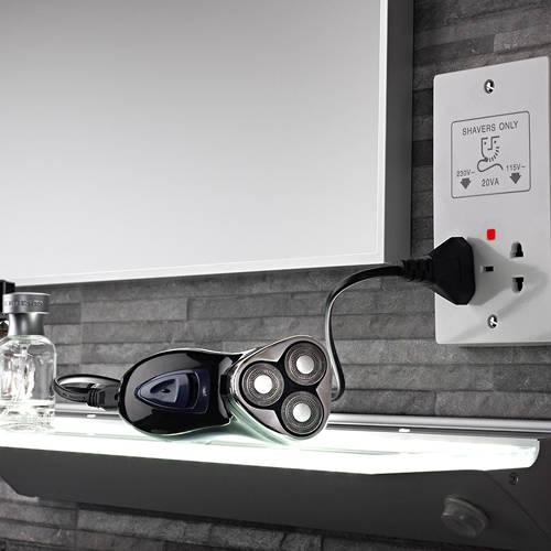 Additional image for Dual Voltage Shaver Socket (White).